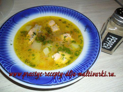 Суп из лосося в мультиварке