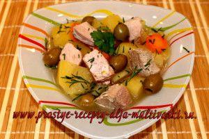 картошка с говядиной тушеная рецепт с фото