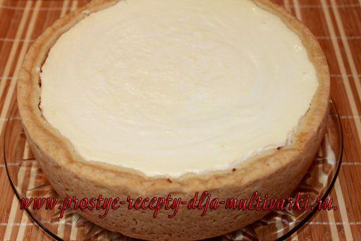 Творожный пирог с черносливом в мультиварке