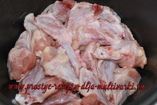 Куриные крылышки с гречкой в мультиварке