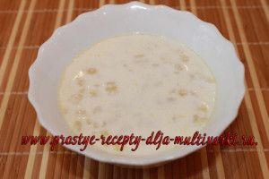 Молочный суп в мультиварке