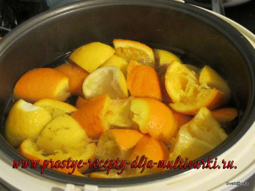 Апельсиновый лимонад в мультиварке