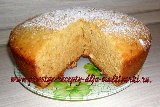 Медово-апельсиновый пирог в мультиварке