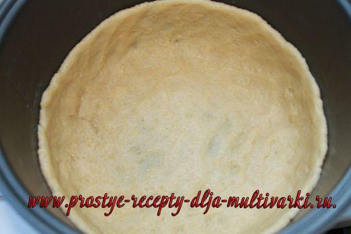 Творожный мраморный пирог в мультиварке