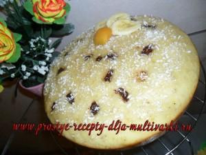 Фото рецепт бананового пирога в мультиварке редмонд
