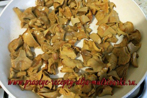 Пирог с грибами в мультиварке