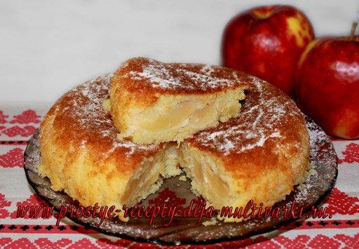 Яблочный пирог на кефире в мультиварке редмонд рецепты