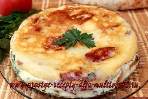 Рецепт омлет в мультиварке Панасоник | Приготовить в