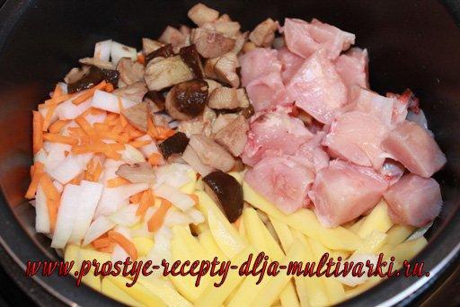 Грибной суп в мультиварке-скороварке