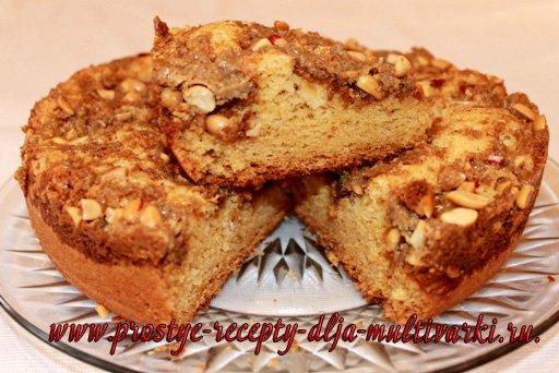 Пирог с халвой в мультиварке-скороварке