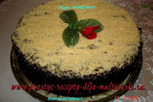 Торт «Анжелика» в мультиварке