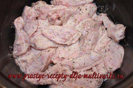 Макароны с курицей в мультиварке-скороварке