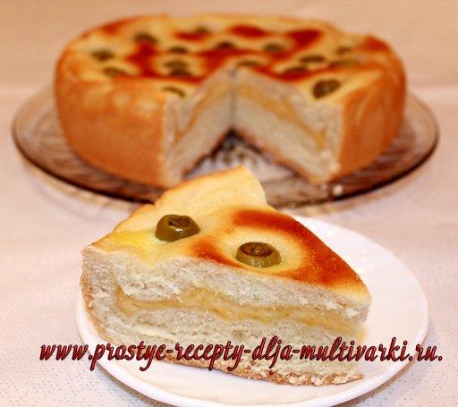 дрожжевой пирог в мультиварке