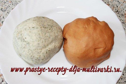Мраморный хлеб в мультиварке