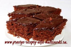 шоколадный брауни в мультиварке