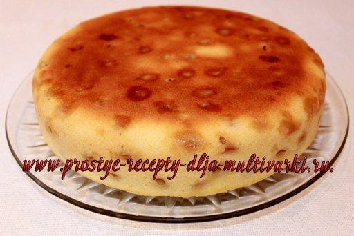 пирог с виноградом в мультиварке