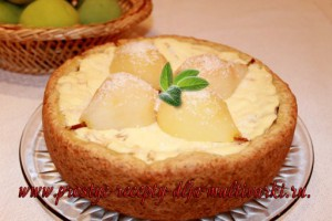 пирог с грушами в мультиварке