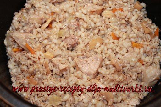Перловка с мясом в мультиварке редмонд рецепты с фото пошагово