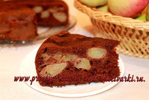 как приготовить яблочный пирог в мультиварке
