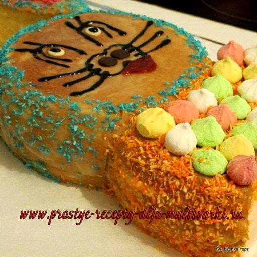 торт в виде зайца