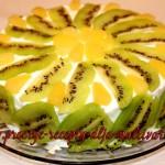 бисквит с ананасами