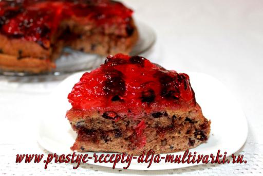 Постный пирог в мультиварке
