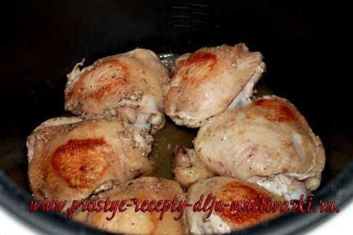 Макароны с курицей в мультиварке