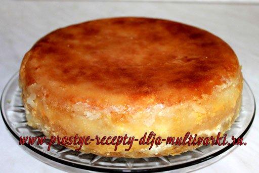 Насыпной яблочный пирог с творогом в мультиварке