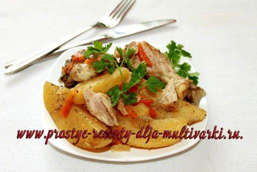 Курица с картошкой в мультиварке-скороварке
