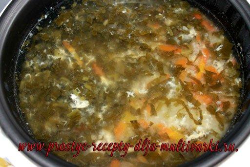 рецепт щавелевого супа в мультиварке