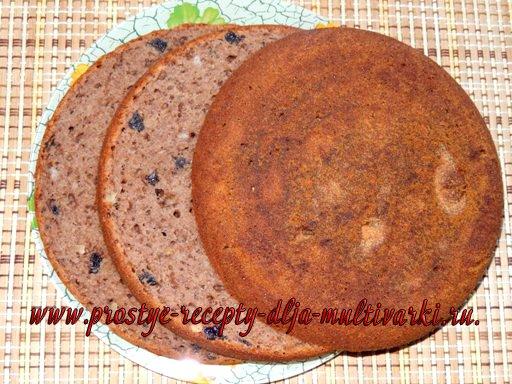 Банановый торт со сметанным кремом с вишнями