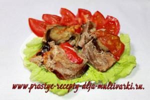 Свинина-баян с баклажанами в мультиварке