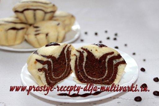 Бисквитные кексы на пару