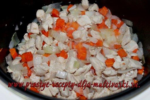 Овощное рагу с курицей в мультиварке панасоник 18