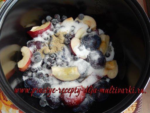 Плодово-ягодный компот в мультиварке
