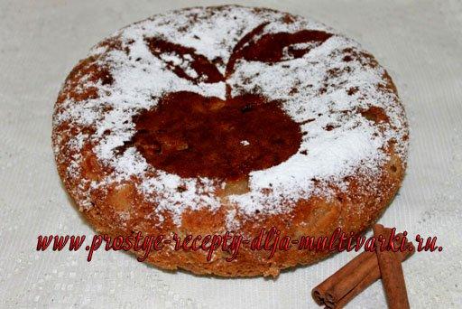 Овсяный пирог с яблоками в мультиварке