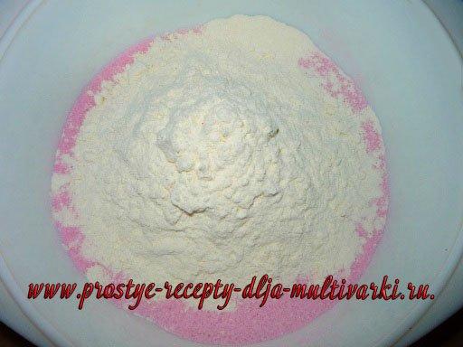 Рецепт пирога из киселя в мультиварке