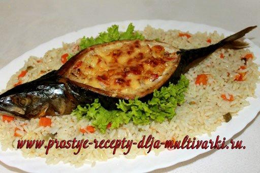 Рис с овощами к фаршированной скумбрии
