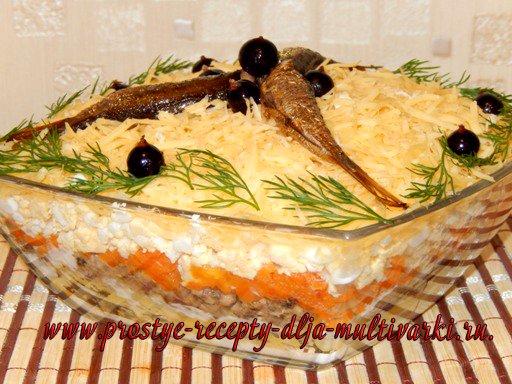 Салат со шпротами рецепт