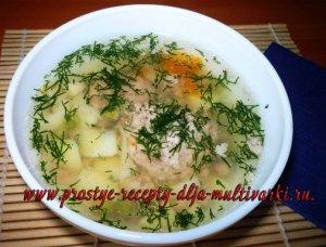 Как приготовить суп с фаршем в мультиварке