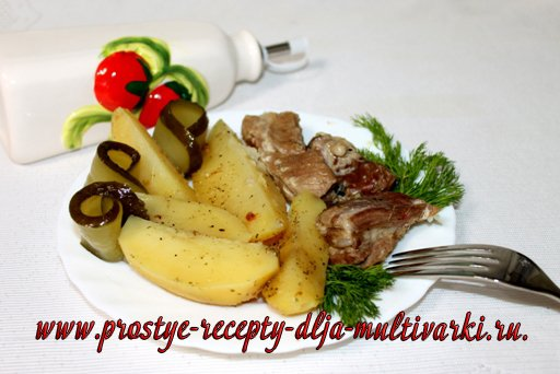 Ребрышки с картошкой в мультиварке – скороварке