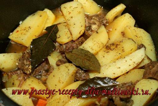 Картошка с тушенкой в мультиварке, в скороварке