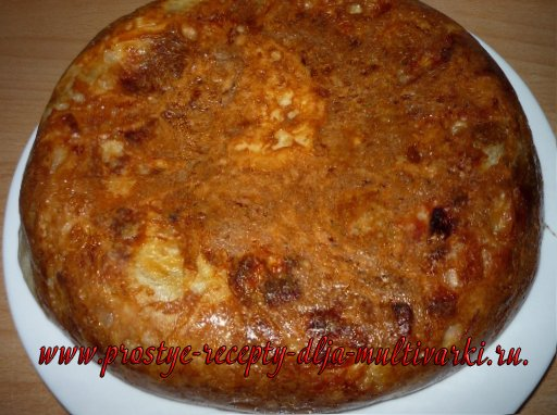Пирог - улитка из лаваша в мультиварке