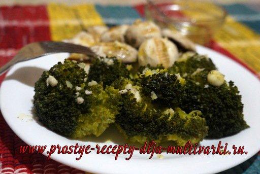 Вкусная брокколи на пару в мультиварке
