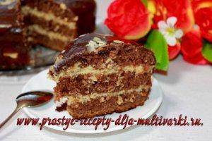 Шоколадный торт в мультиварке, в скороварке