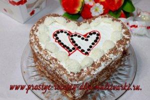 Торт в виде сердца рецепт с фото