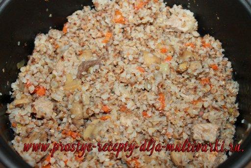 Гречка с мясом и грибами рецепт