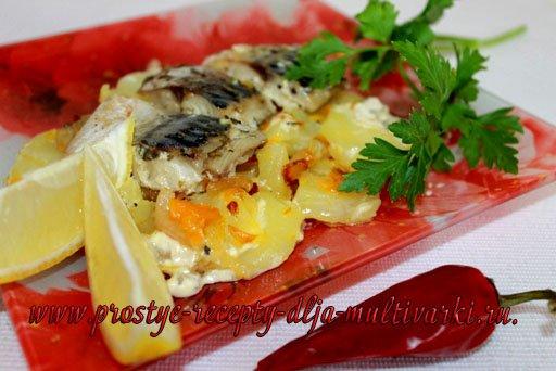 скумбрия с картошкой в мультиварке рецепты приготовления