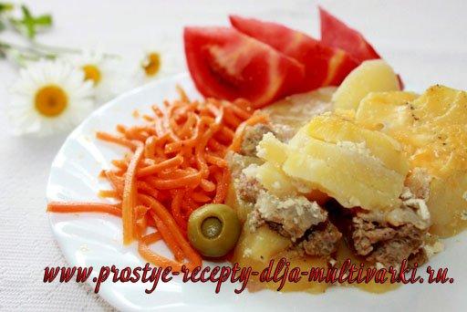 Картошка по-французски в мультиварке