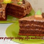 Шоколадный торт с бананами рецепт